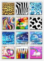 20pc fashion personality leopard print zebra pattern pvc HD Pattern switch sticker film the 9 * 9cm 12 designs for choosing