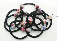 Wholesale Free Shipping Fashion Cheap Hair Accessories Elastic Baby Hair Band 12pcs/lot GHJ060(China (Mainland))