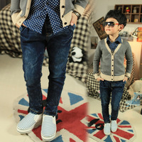 Small male ! child jeans male child trousers children's clothing long trousers 2013 spring children's clothing