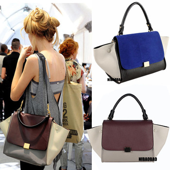 HOT SELL FREE SHIPPING 2013 fashion trapeze high quality big ears bag smiley bags one shoulder women's handbags  H-325