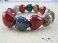 (Free shipping) Mattoon jingdezhen ceramic accessories hand made ceramic beads unique jewelry accessories bracelet