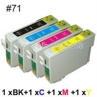 4 ink cartridge Compatible for epson Printer Stylus D78 D92 DX4000 DX4400 SX100 SX200 T0711-T0714 71