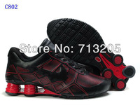 Free Shipping Wholesale 2012 Famous Sneakers  Men's Sports Basketball Shoes Footwear Shoes C802 Black/Red Size:41-46