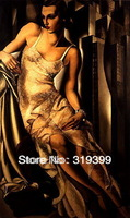 Tamara De Lempicka Oil Painting Reproduction on Linen Canvas,Portrait of Mrs. Allan Bott,Free Fast Shipping, 100%handmade,
