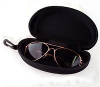 Free shipping 3pcs/lot Black Zip Hard Eye Glasses Sunglasses Storage Case Eyeswear Zipper Protector Box Bag 16*8.5*6.5cm