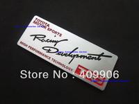 Free Shipping,New Aluminium Metal Car Logo Emblem Badge Toyota Motor Sports TRD