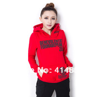 Free shipping 2014 letter print hoody long-sleeve thickening pullover fleece shirt sweatshirt female