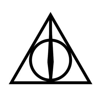Christmas gift Harry Potter Deathly Hallows Luna Lovegood Triangle Tattoo Body StickerNontoxic And Tasteless