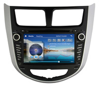 "New!! 8"" Car DVD for Hyundai Verna Solaris I25 with 3G USB host Russian Menu GPS radio bluetooth TV iPod +Free shipping"