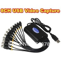 8CH 220FPS H.264 Camera USB DVR Video Capture Card 8 Channel CCTV Security Camera to PC/TV Free Shipping