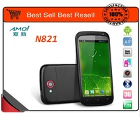 100% original Amoi N821 Big V MTK6577 4.5'' Dual-core 1G CPU Android 4.0 3G cellphone Dual-SIM WCDMA+GSM wifi GPS unlocked