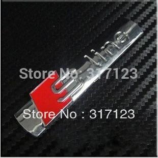 (30pieces/lot) Wholesale Metal S line 3D Chrome Emblems For Audi Q5 Q7 Car Badges Stickers(China (Mainland))