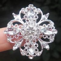 Elegant Diamante Cluster Wedding Invitations Flat Back -----BU365