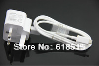 For Samsung Galaxy Note 2 N7100 Galaxy Note N7000 Galaxy S3 I9300 For UK Plug Travel Charger+Data Cable