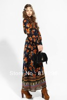 Free     shipping    The new color restoring ancient ways of printing grow a dress