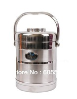 Free Shipping Vacuum  Double Wall Stainless Steel Lunch Box/Food Container/Thermos,Vacuum Dinner Bucket 1800 ML