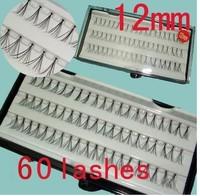 Free shipping 60x 12mm Individual Fake False Eyelash Eye Lash Extension Curl Makeup Salon XTH8210