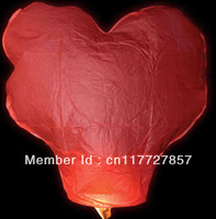 100 heart Sky Lanterns farmer friendly wire free 100% bio-degradeable