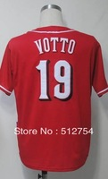 #19 Joey Votto Jersey,Baseball Jersey,Best quality,Embroidery Logos,Authentic Jersey,Size M--3XL,Accpet Mix Order
