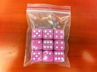 16mm acrylic pink 9 dice set girl
