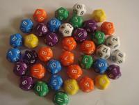 12 dice bosons polyface multicolour boulimia table