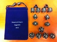 15 black set dice set black