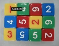 16mm multicolour digital 6 dice d6 table teaching aids