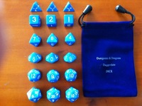 Dice  plug dices [full blue 18 grain of package + beautiful D&D special bag] open group teaching