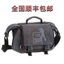 01308 one shoulder canvas cross-body digital camera bag slr photography accessories(China (Mainland))