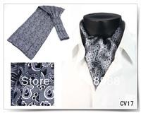 13 Colors Available! Fashion 100% Silk Men's Ascot Tie Cravat Tie Necktie Free Shipping