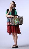 The original design of Folk Style Embroidered bag hand shoulder diagonal package Maomao canvas bag