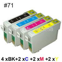 10 ink cartridge Compatible for epson Printer Stylus D78 D92 DX4000 DX4400 SX100 SX200 T0711-T0714 71