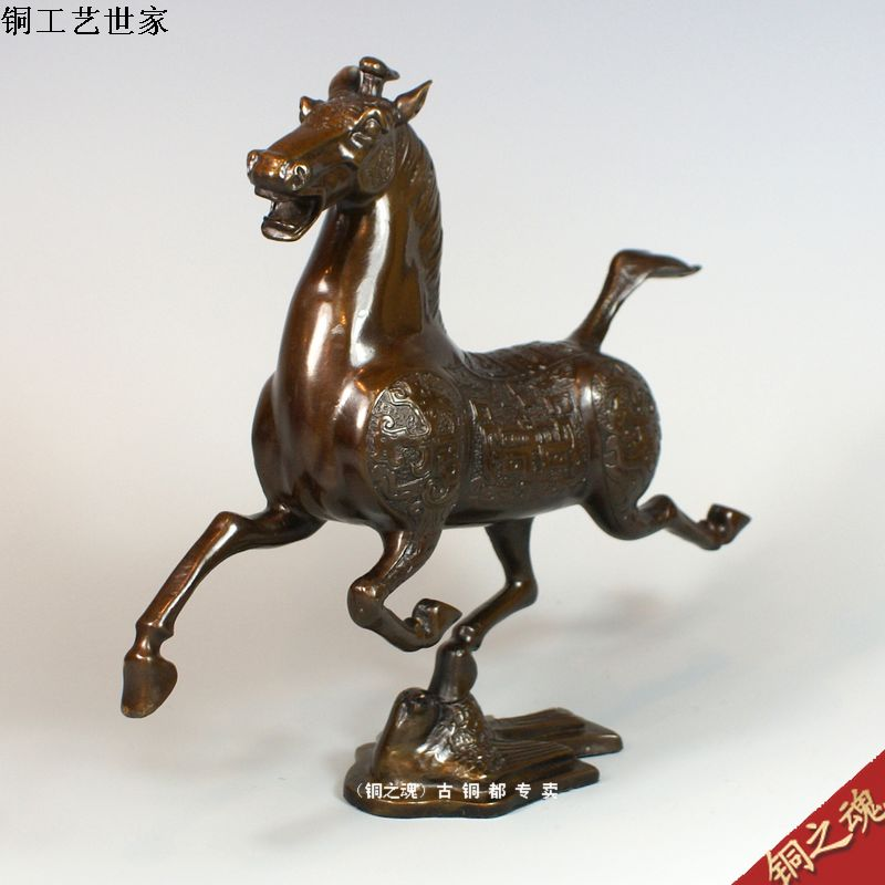 Copper copper horse bronze device crafts wedding gifts(China (Mainland))