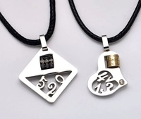 Lovers pendant titanium steel necklace lovers not fade necklace 1035