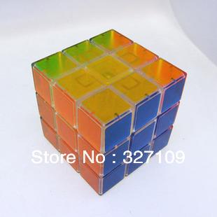 Crystal 3x3x3 Competitve Speeding Magic Puzzle Cube Game Intelligence Fancy Children Education Toy