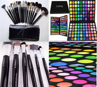 24 brushes and 120 eyeshadow 24 pcs Makeup brushes and 120 Colors Eyeshadow  Make Up Eye Shadow Palette Set Free Shipping