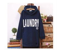 2014 Fall autumn Winter new brand fashion womens cotton Korean fleece loose plus size hooded long style sweatshirts hoodies