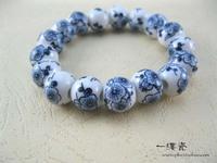 (Free shipping)Transhipped ceramic beads bracelet jingdezhen ceramic accessories bracelet for gift for lovers