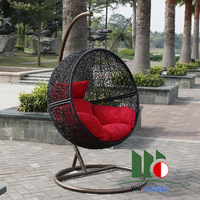 Home outdoor furniture indoor rattan bird nest hanging basket swing rocking chair hanging chair balcony casual rattan chair
