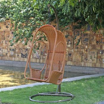 Balcony swing single leisure chair swing chair hanging chair rocking chair hanging basket rattan cradle indoor outdoor