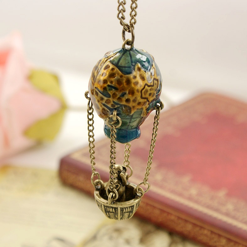Accessories vintage accessories hot balloon long design necklace the whole network(China (Mainland))