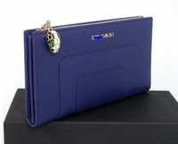 Leather Bags 2013 Women Branded Purse/L-shaped Zipped Wallet 35285 Violet Free Shipping Bags Women