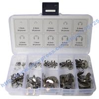 200Pcs Stainless Steel E-Clip Assortment Kit 1.5 2 3 4 5 6 7 8 9 10 mm Circlip