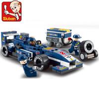 Free Shipping DIY Enlighten Child ABS Eco-Friendly high quality  F1 World Grand Prix educational blocks 196pcs  M38-B0351