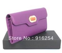 Leather Bags Branded Women Wallet/BVGARI Bifond Wallet Calf Leather 351877 Purple/ Free Shipping Bags Women