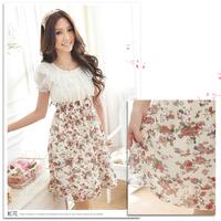 Free Shipping  New summer short-sleeved chiffon dress fashion dress D-91