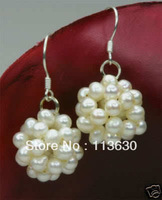 beautiful white pearl dangle Earring