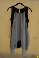 2013 women's faux two piece one-piece dress tank dress limited