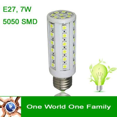 Wholesale LED Bulb Lamp Light E27 B22 E14 7W 5050 SMD 44 LEDS Lamp Beads 220V Pure White or Warm White 10pcs/package(China (Mainland))