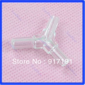 Free Shipping 10PCS/Lot Plastic Y Airline Connector Tubing Pipe For Aquarium